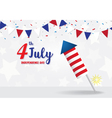 Independence Day 4 th July firecracker vector image vector image
