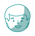 isolated cute man face vector image vector image