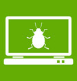 laptop icon green vector image vector image