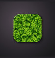 Leaves texture icon stylized like mobile app vector image vector image