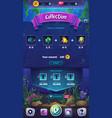 mahjong fish world - mobile format vector image vector image