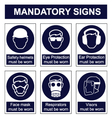 mandatory safety signs vector image vector image