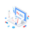 medical rx prescription drug isometric concept vector image vector image