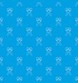mexican maracas pattern seamless blue vector image