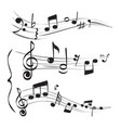 musical note staff treble clef notes muzician vector image vector image