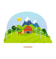 nature and agriculture natural and organic food vector image vector image