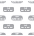 New No smoking seamless pattern vector image vector image