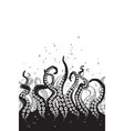 octopus tentacles curl and intertwined hand drawn vector image vector image
