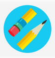 pencil icon flat logo vector image vector image