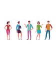 people set in flat style cartoon vector image vector image