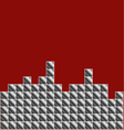 Pixel art game background vector image