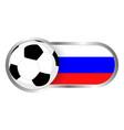 russia soccer icon vector image