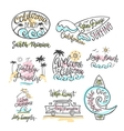 set logos badges and emblems with hand vector image