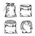 set of black and white of hand drawn vector image vector image