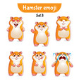 set of cute hamster characters set 3 vector image vector image