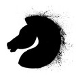 silhouette a horses head logo animal icon vector image