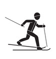skiing person black concept icon skiing vector image