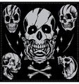 Skull Old school Style vector image vector image