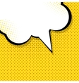 Speech Bubble Pop Art Background vector image vector image
