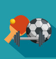 sport champions league icons vector image