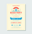 summer holidays beach party flyer typography night vector image vector image