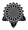 sunflower leaf icon simple style vector image
