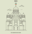 sveti sedmochislenitsi church in sofia vector image vector image