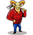 Timber Goat vector image vector image