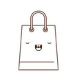 trapezoid kawaii shopping bag icon with handle in vector image vector image