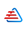 triangle stripes construction logo vector image vector image