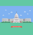united states capitol in flat style design vector image vector image