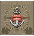Vintage Sailor Naval Poster vector image vector image