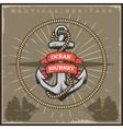 Vintage Sailor Naval Poster vector image