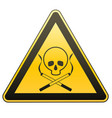 warning sign smoking leads to death caution - vector image vector image