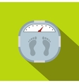 Weight scale flat icon vector image vector image