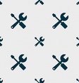 wrench and screwdriver icon sign Seamless pattern vector image