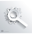 Zoom in loupe icon Flat abstract background with vector image