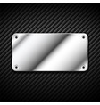 metal banner carbon 2 vector image