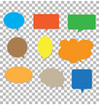speech bubbles on transparent background blank vector image