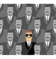 Spy Seamless pattern of people A crowd of men vector image