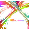 Abstract colorful concave on a white