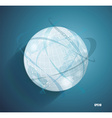 Abstract globe symbol with smooth shadows and map vector image vector image