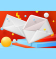 abstract scene with open and close envelope vector image vector image
