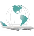 aircraft with model earth vector image vector image