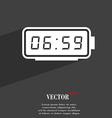 alarm clock symbol Flat modern web design with vector image vector image