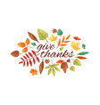 autumnal fall composition autumn leaves and vector image vector image