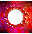 Background From Red Hearts vector image vector image