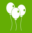 balloons icon green vector image vector image