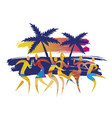 beach disco party dancers vector image vector image