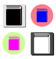 book flat icon vector image